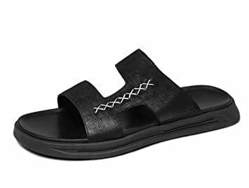 01c6490cd81f Image Unavailable. Image not available for. Color  GLSHI Men Fashion  Leather Sandals Men s Summer Trend Casual Beach ...