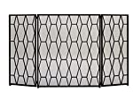 "Deco 79 50378 Striking Metal Fire Screen, 51"" W x 31"" H from Benzara"