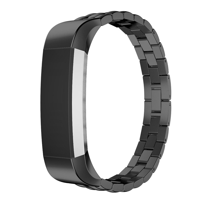 交換用ステンレススチール時計バンド手首ストラップfor Fitbit ALTAトラッカーby d.b. Moodブラック  B01KFG4WKC