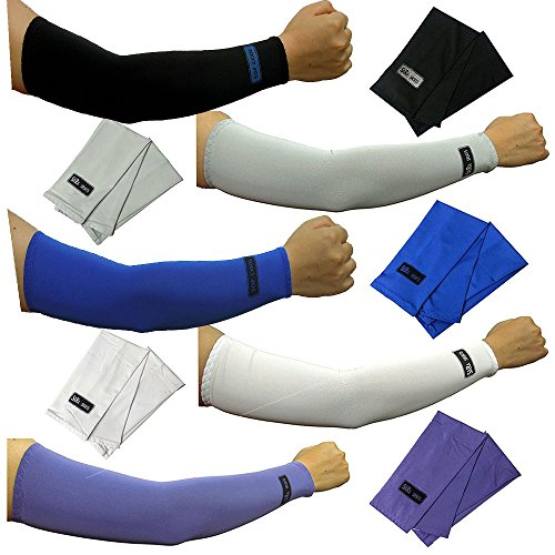 5pairs Arm Sleeves Set Cooling Athletic Sport Skins Sun Protective UV Cover VT by dulcefox