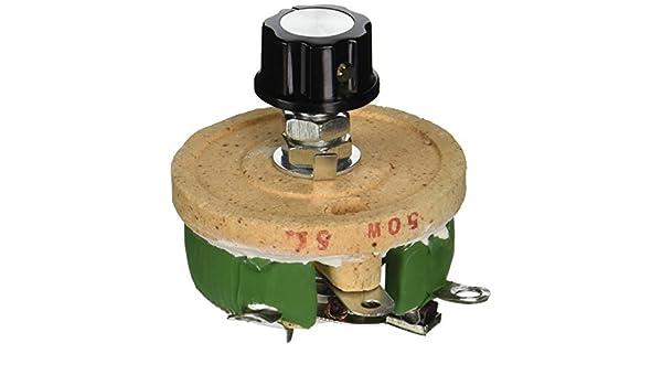 50W 5 Ohm volumen de cerámica de Hilo bobinado potenciómetro de Control de Disco reostatos: Amazon.com: Industrial & Scientific