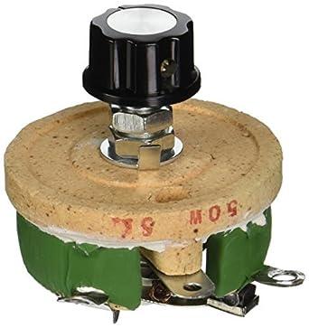 50W 5 Ohm volumen de cerámica de Hilo bobinado potenciómetro de Control de Disco reostatos