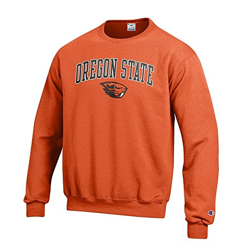 Elite Fan Shop Oregon State Beavers Crewneck Sweatshirt Varsity Orange - (Osu Oregon State University)
