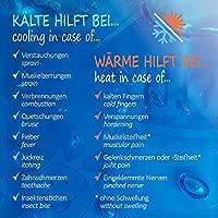 com-four® Compresas múltiples en 3 tamaños Diferentes, compresas de Gel para Aplicaciones frías y Calientes, Almohadillas de refrigeración, microondas ...