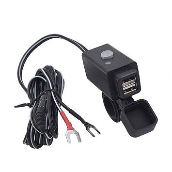 Welltobuy Cargador de teléfono para Motocicleta Cargador USB ...