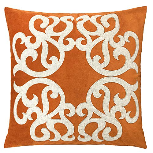 Homey Cozy Spice Throw Pillow Cover,Large Premium Applique Sparkly Vine Velvet Sofa Couch Pillowcase Modern Home Decor 20x20,Cover Only