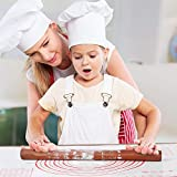 Rolling Pin Wood and Silicone Baking Pastry Mat
