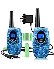 Topsung Rechargeable Walkie Talkie with Charger and Batteries Long Range Two Way Raidos PRM446 8 Channels 3Mile Walkie Talkies Kids Toys for Boys Gifts