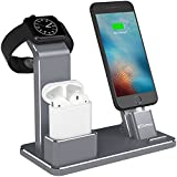 YoFeW Apple iWatch Stand Aluminum 4 in 1 Apple Watch Charging Stand.. Product Photo