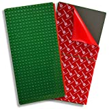 Creative QT Peel-and-Stick, Self Adhesive Baseplates - 2 Pack (10' x 20') - Compatible with Duplo-Style Bricks (Only with Bigger Size Blocks) - Fastest and Easiest DIY Play Table or Wall (Green)