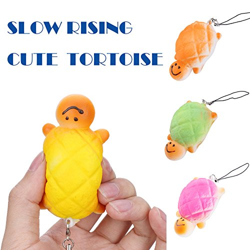 PLENTOP 2PC Random Tortoise Slow Rising Collection Squeeze Stress Reliever Toy