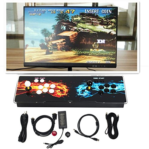 HIOFFER Games Console 999 Classic Games Machine for Arcade Joystick Windows PC & TV VGA HDMI Output 2 Players Double Joystick and Buttons Arcade Video Game Console Box 5S ()