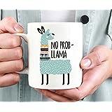 Llama Mug No Prob-Llama Funny Gift
