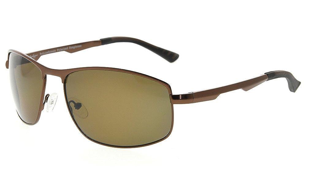 Eyekepper Metallrahmen Spring Scharniere Polycarbonat Linse Polarisierte Sonnenbrille Männer Frauen