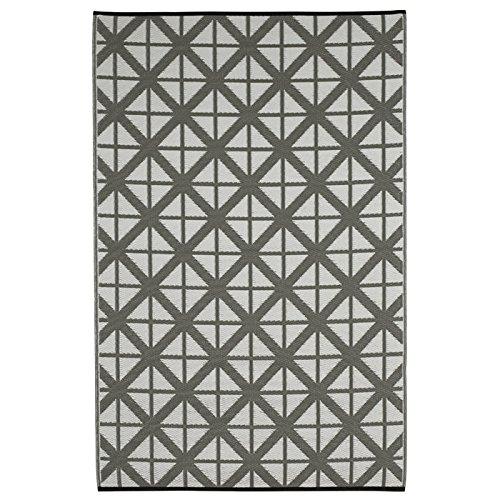 Fab Hab - Manchester - - - Paloma (Silbergrau) & Weiß - Teppich  Matte für den Innen- und Außenbereich (180 cm x 270 cm) B00P011ARQ Teppiche 43ef32