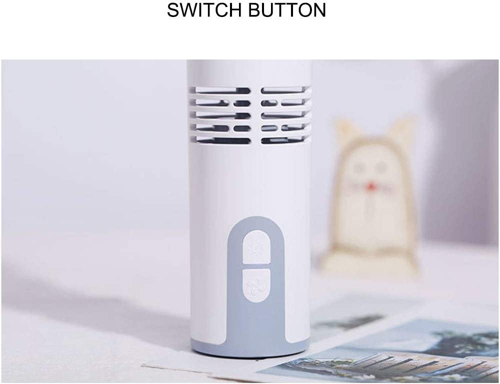 Three Brightness Adjustment Fill Light Size 7 4 17.5cm Portable Chenteshangmao Portable White Handheld Leafless Fan USB Charging 2000mAh Lithium Battery ABS Material