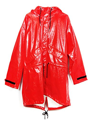 Zara Women Faux Patent Leather Raincoat 4341/006 (Large)