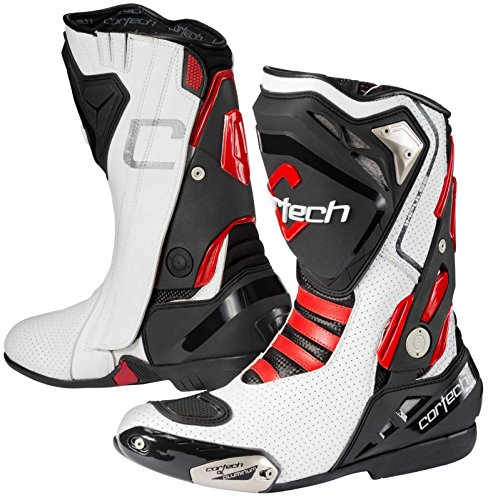 Agv Motorcycle Boots - Cortech Adult Motorcycle Impulse Air Road Race Boots White/Red 9