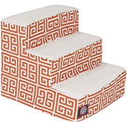 3 Step Portable Pet Stairs By Majestic Pet Products Orange Towers Steps for Cats and Dogs Tangerine