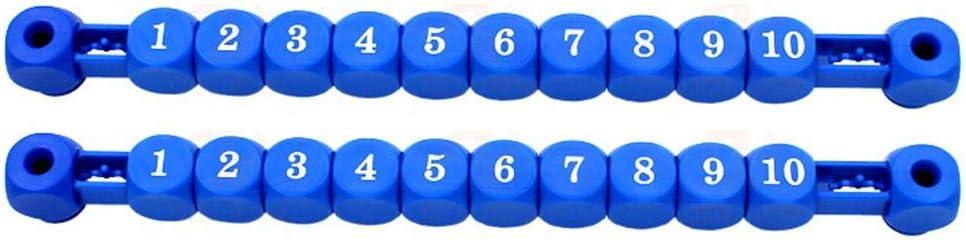 perfecti 2PCS Unidades De Puntuación De Futbolines Marcadores Contador Futbolin Fútbol De Mesa Puntuación Puntaje Indicador Contador, Números1-10: Amazon.es: Hogar