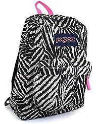 JanSport Superbreak Multi Print School Backpack B1024: Grey Tar Wild At Heart