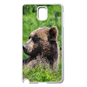Samsung Galaxy Note 3 Cases Grizzly Bear Sunning Himself Protective For Girls, Case For Samsung Galaxy Note 3 N9005 Protective For Girls [White]