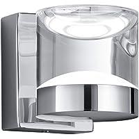 Trio Leuchten LED badkamer wandlamp 282710106 Brian, metaal chroomkleurig, acryl helder, 3,6 Watt LED