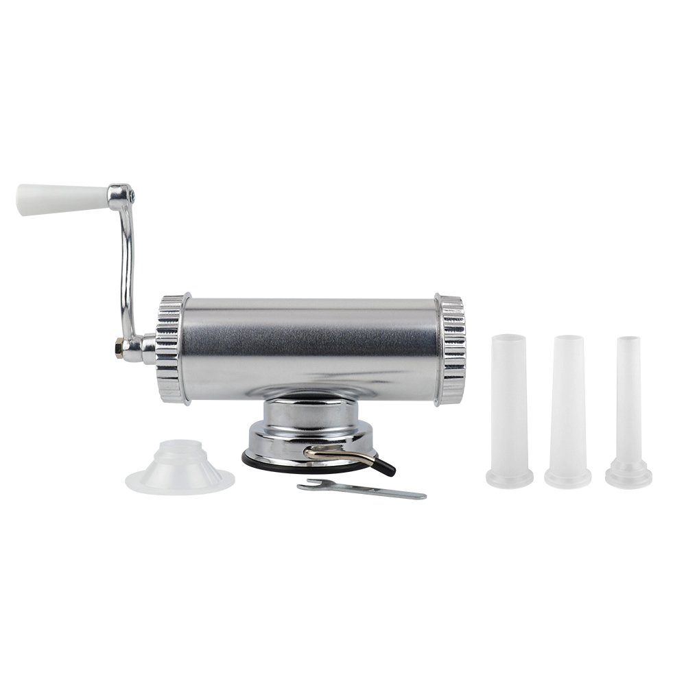 Homemade Sausage Making Kit Includes Sausage Meat Stuffer / Maker With 3 Stuffing Nozzles (2 lbs Capacity) KAIYUAN