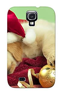 Exultantor Perfect Tpu Case For Galaxy S4/ Anti-scratch Protector Case (holidays Christmas Seasonal Dogs Puupy )