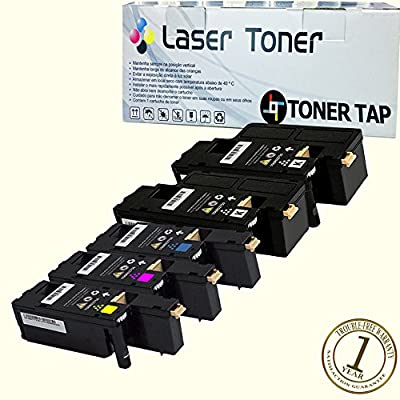 Toner Tap® Compatible Toner Cartridge 5 Pack Set for Xerox Phaser 6022/NI Wireless Color Photo Printer, For Xerox WorkCentre 6027/NI Wireless Color Photo Printer with Scanner, Copier and Fax