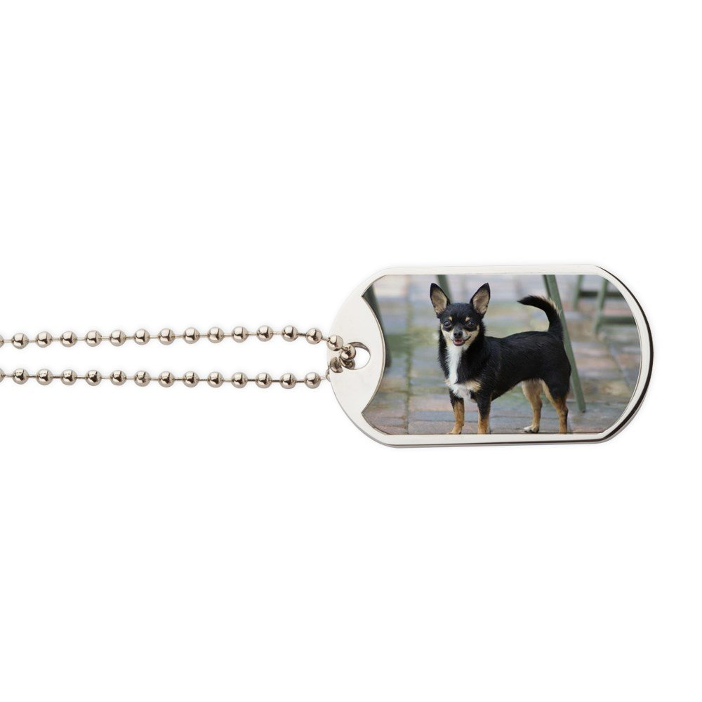 CafePress - Toy Chihuahua - Military Style Dog Tag, Stainless Steel with Chain