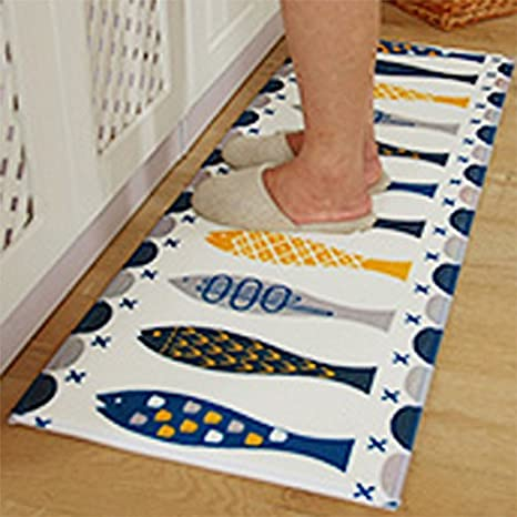 Amazon.com: A.B Crew Modern Kitchen Floor Carpet Washable ...