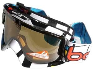 Bollé Tiki Mondrian - Gafas de esquí (modulador de alto contraste, cristal doble, categorías 1-3), color naranja