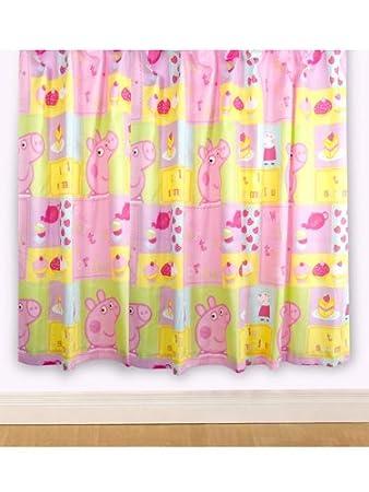 Peppa Pig U0027Cupcakeu0027 Curtains 72u0026quot; ...