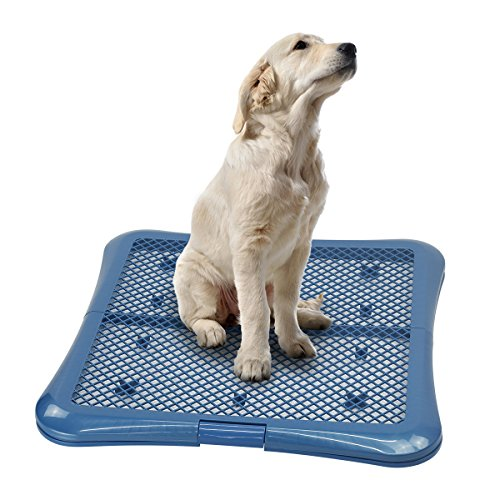 Petphabet Training Pad Holder Floor Protection Dog Pad Holder Mesh Training Tray (L)
