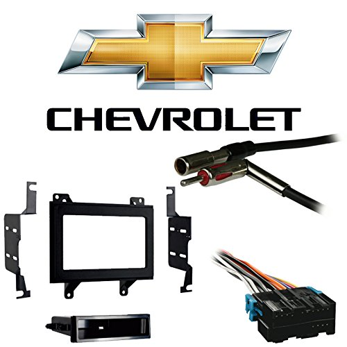 Compatible with Chevy S-10 Pickup 94-97 Double DIN Stereo Harness Radio Install Dash Kit
