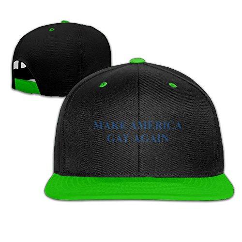 make-america-gay-again-snapback-hip-hop-baseball-bill-hat-one-size-kellygreen