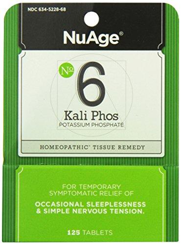 Hyland's Nuage Labs 6 Potassium Phosphate Tablets, 125 Count