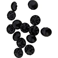 YW Acrylic Imitation Crystal Buttons, for Women's Clothing Decoration DIY Materials Black