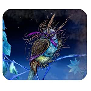 Colorful Owl Art Design Personalized Rectangle Mouse Pad