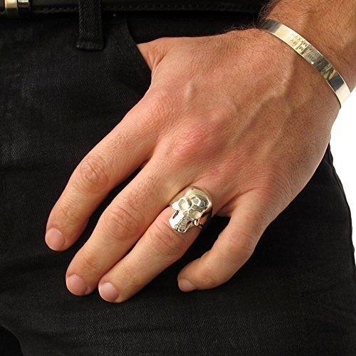 Mens Jewelry,Biker Ring Man Skull Rings Men/'s Silver Skull Ring,Guys Gifts Ring Skull Gift for Him,Ring Band