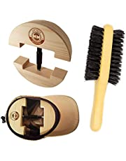 Premium Hat Stretcher with 3-n-1 BONUS Hat Brush & Ebook,Sturdy Solid Wood, One Size Fits All, Heavy Duty Turnbuckle, Stretches Hats to Fit Perfectly, Eliminates Pinching, Clothes Brush, Cowboy Hat