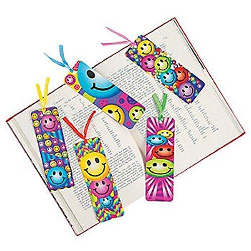 8 Dozen (96) Smiley Face Laminated BOOKMARKS - Smile EMOJI Emoticon PARTY Favors CLASSROOM Rewards Incentives TEACHER