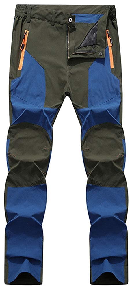 Grey bluee AbelWay Women's Outdoor Windproof Waterproof Quick Dry Pants Hiking Mountain Cargo Trousers