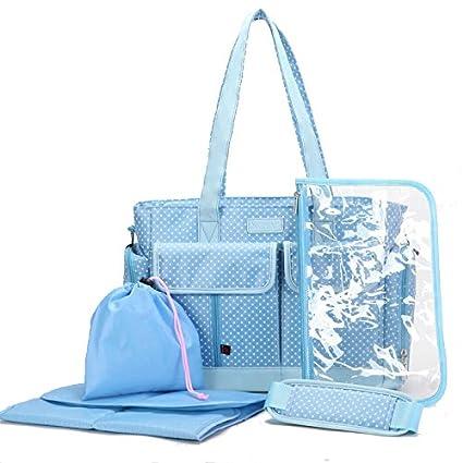 mengma 3 colores bebé pañales Mutifunctional crossbod Nappy bolso cambiador Bolso de saco de bolsa de