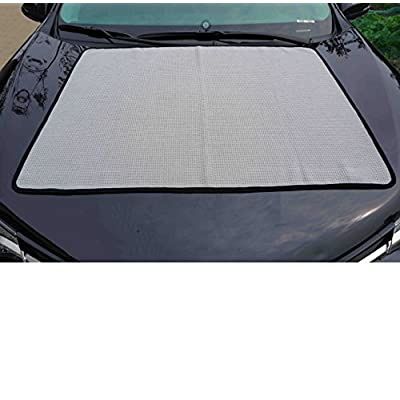 Gryeer Extra Large Microfiber Waffle Weave Drying Towel, Professional Grade Car Cleaning Detailing Cloth, Bigger and Thicker Than Normal Waffle Drying Towels, 400gsm, 40x28 inch,Pack of 2, Gray: Automotive