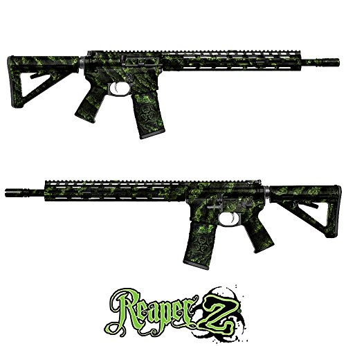 GunSkins AR-15/M4 Rifle Skin Camouflage Kit DIY Vinyl Wrap with Pre-cut Pieces (Reaper Z from Proveil Camo)