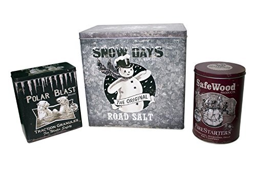 Winter Advertising Tins ~ Food Safe ~ Set of 3 by Ohio Wholesale