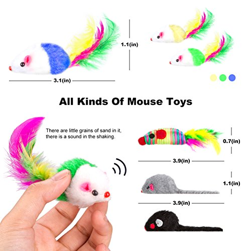 Simply-Me Cat Toys, 20 Pieces Interactive Toys Gift Set for Cats by Simply-Me (Image #4)