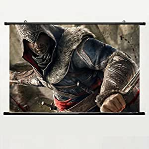 DAKE Home Decor DIY Art Posters with Assassins Creed(6) Wall Scroll Poster Fabric Painting 24 X 16 Inch (60cm X 40 cm)